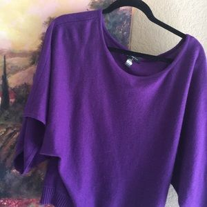 INC Sweater off one shoulder. Angora, silk mix